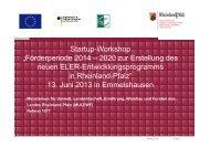 Startup-Workshop EULLE-Programmerstellung _ 13 Juni 2013