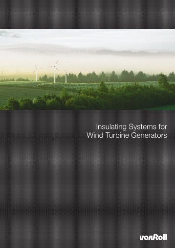 Insulating Systems for Wind Turbine Generators - Electrowind ...