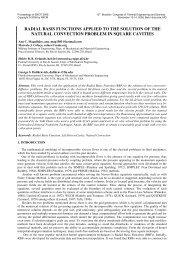 radial basis functions applied to the solution of the natural ...