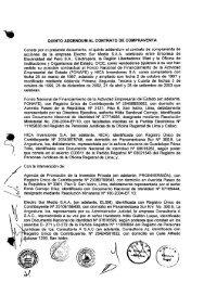 quinto addendum al contrato de compraventa - Proinversión