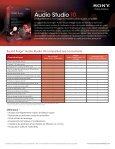 Audio Studio 10 - Sony Creative Software - Page 2