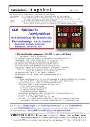 LED - Spielstands- Anzeigetableau - SCHRIEVER & SCHULZ & Co ...