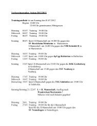 Vorbereitungsplan Sommer 2012 - SV Marienstein