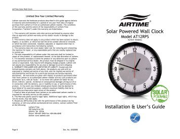 Wall clock models batteries the clock depot solar powered wall clock lathem time corporation publicscrutiny Gallery
