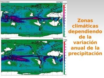 Zonas climáticas dependiendo de la variación anual de la ...