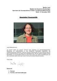 Newsletter Frauenpolitik - Monika Lazar