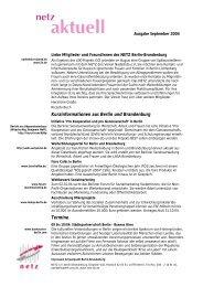September 2004 - NETZ für Selbstverwaltung und Kooperation ...