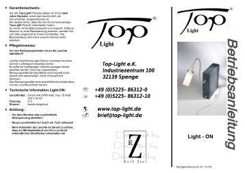 Montageanleitung - Top-Light