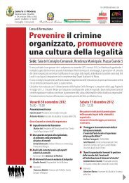 corso formazione contrasto crim org - Comune di Modena