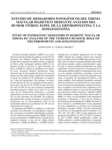 estudio de mediadores patogénicos del edema ... - SciELO España