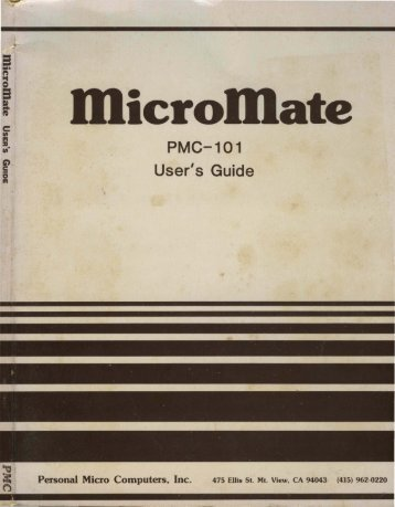 PMC-101 User's Guide ate - Bitsavers
