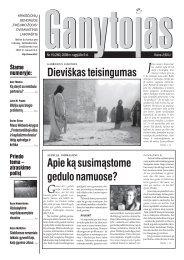 Nr. 15 (280) 2008 m. rugpjūčio 9 d. - Krikščionių bendrija TIKĖJIMO ...