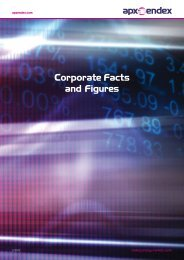 Corporate Facts Sheet - APX-Endex