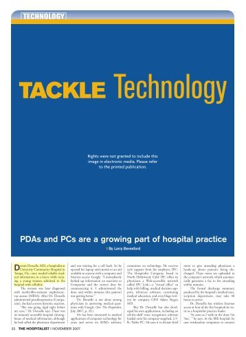 Tackle Technology - IPC: The Hospitalist Company