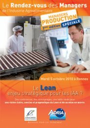 Lean en IAA - Bretagne Innovation
