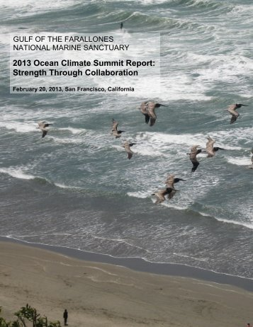 2013 Ocean Climate Summit Report: Strength Through Collaboration