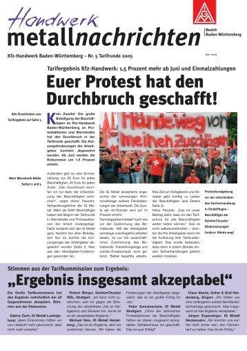 Metallnachrichten Kfz-Handwerk Baden-Württemberg Nr. 5/2005