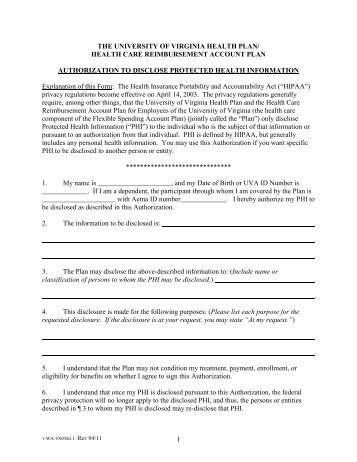 assignment releasing protected health information Authorization for the release of protected health information primary care physician assignment consent for release of confidential health information.