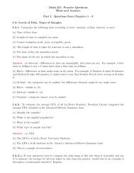 Math 251: Practice Questions Hints and Answers Part I. Questions ...
