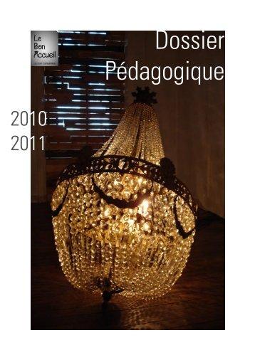 Dossier Pédagogique ClaraJUlie.indd - Le Bon Accueil