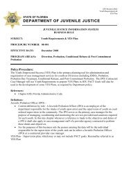 Youth Requirements - Florida Department of Juvenile Justice