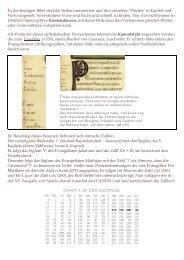 In der heutigen Bibel sind die Seiten nummeriert und ihre einzelnen ...