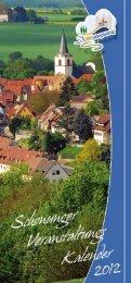 Veranstaltungen aus Schonungen ... - Schweinfurter OberLand