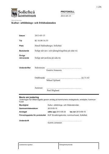 KUFN 2013-05-15 §31-43.pdf - Sollefteå kommun