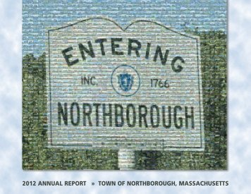 2012 ANNUAL REPORT » TOWN OF NORTHBOROUGH ...