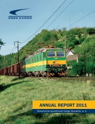 ANNUAL REPORT 2011 - ZSSK Cargo