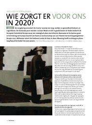 WIE ZORGT ER VOOR ONS IN 2020? - Weliswaar