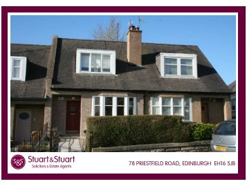 78 PRIESTFIELD ROAD, EDINBURGH EH16 5JB - Stuart & Stuart