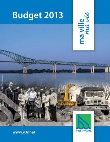 Budget 2013-3 - Ville de Trois-Rivières