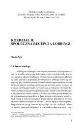 Rozdział 2. Społeczna recepcja lobbingu, Marta Kaja