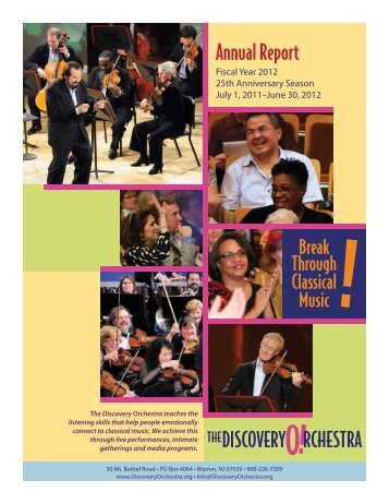 Annual Report - The Discovery Orchestra