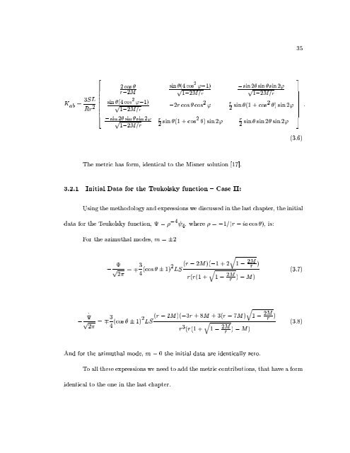 THE CLOSE LIMIT A Thesis in - Institute for Gravitational Physics ...