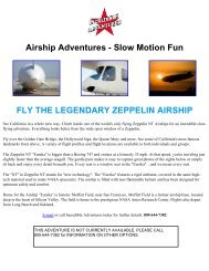 Airship Adventures - Slow Motion Fun FLY THE LEGENDARY ...