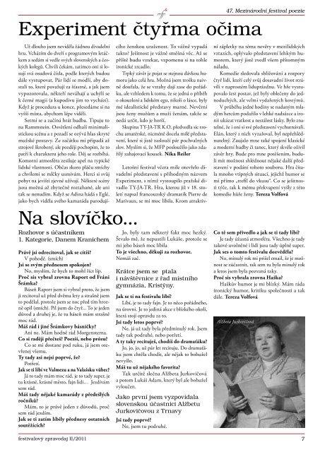 Zpravodaj II/2011 - Kulturní zařízení