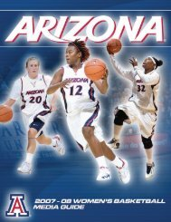 2007-08 Women's Basketball Media Guide - University of Arizona ...