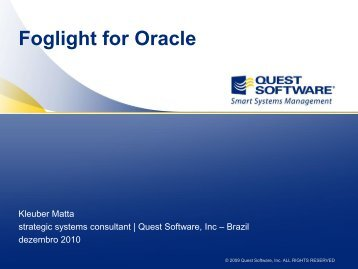 Foglight for Oracle - Software Communities - Quest Software