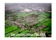 The Launton Village Plan 2005 - Oxfordshire County Council