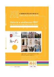 Historie a současnost FAST - Fakulta stavební - Vysoké učení ...