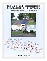 Bedford County Route 24 Corridor Management Study - Virginia's ...