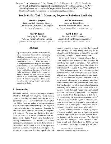 Measuring Degrees of Relational Similarity - UCLA Reasoning Lab