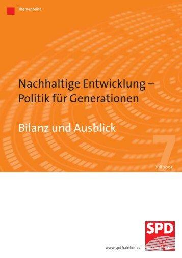 Nachhaltige Entwicklung – Politik für Generationen Bilanz und ...