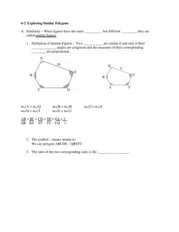 Worksheet Similar Polygons Worksheet similar polygons worksheet 6 2 intrepidpath objectives identify figures solve