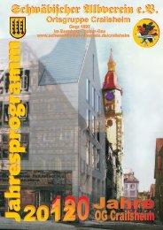Jahresprogramm 2012 - beim Schwäbischen Albverein