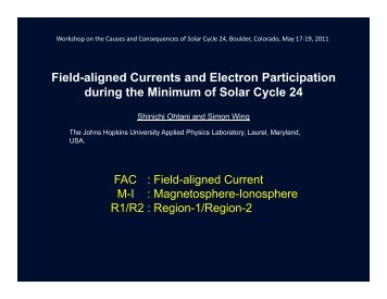 Field-aligned Currents and Electron Participation during the ...