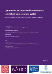 Options for an improved homelessness legislative framework in Wales