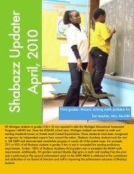 April 2010 Updater - Shabazz Public School Academy